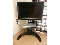 """Sony Bravia 32"""" flat screen TV and Sony DVD player/recorder and stand etc"""