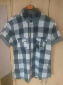 Voi Jeans Mens Grey Check Shirt (Size L)