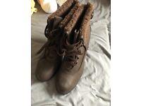 Ladies size 8 heeled boots