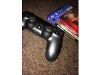 Ps4 chrome controller + 2 games