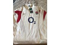 Men's rugby shirt signed by Will Carling