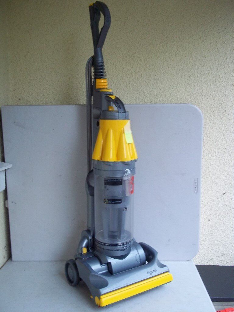 DYSON DC07 UPRIGHT VACUUM CLEANER, WITH TOOLS, THOROUGHLY CLEANED