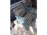 Garden chair - wrought iron - needs some tlc