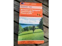AS NEW Ordnance Survey OS Explorer 1:25000 1:25,000 Map 152 Newport & Pontypool / Casnewydd a Phont-