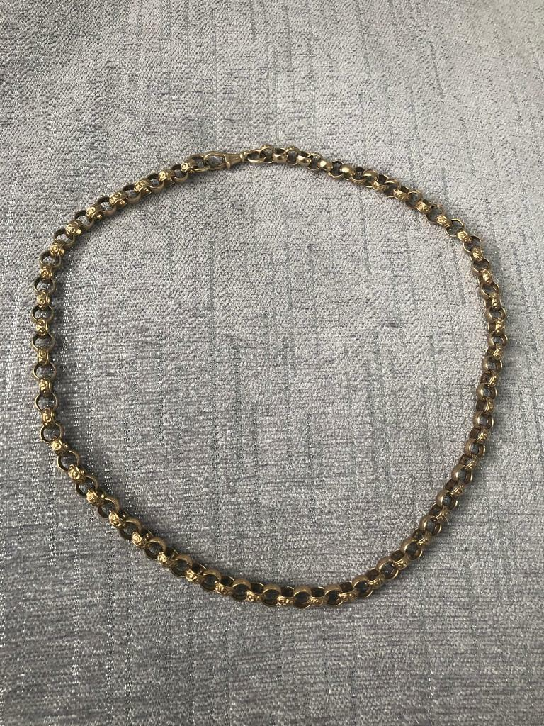 9ct Gold Belcher Chain 47 2 Grams, Full British Hallmarks 375, 20 inches  long    | in Quorn, Leicestershire | Gumtree