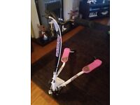 Girls pink and white sporter scooter