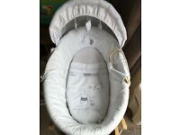 Winnie the Pooh starry night Moses basket
