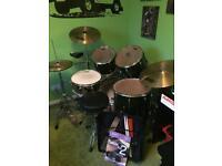 Pearl export series 9 piece drum kit