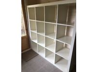 IKEA WHITE KALLAX 5 x 5 PIGEON HOLE SHELVING UNIT