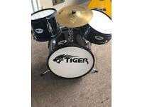 Tiger 3 piece juniors drum set