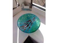 Jo Downs handmade small glass bowl