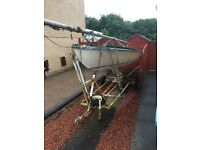 Boat for sale - flying fifteen 15' sailing and trailer - spares/repair