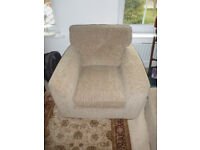 Furniture Village Estaban Mink Armchair - like new