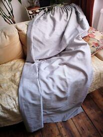 Grey silky curtains
