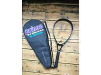 Prince Extender tennis racquet and case