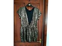 Gold sparkly sequin shorts outfit size 12