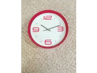 Pink wall clock in working order and in good condition for only £5