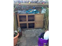 extra large double rabbit hutch 6ft+