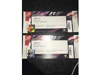 2 Grand Prix tickets for tomorrow!