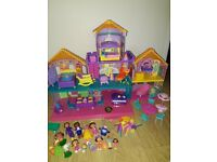 Dora the explorer magic castle with figures and furniture