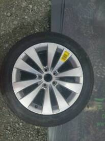 BRAND NEW new vw alloy 17 inch 235x45x17 new conty tyre and alloy