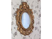 Antique Gold baroque mirror 90x70cm approx