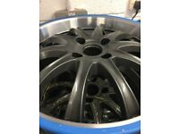 17INCH ALLOY WHEELS X 4 BY WOLFRACE VIBE IN ANTHRACITE PEUGEOT/FORD FIT STUNNING