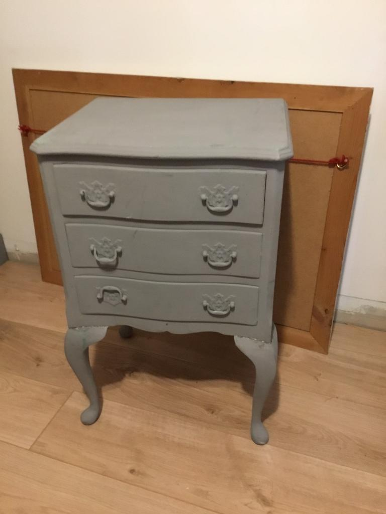 Vintage side table with drawers