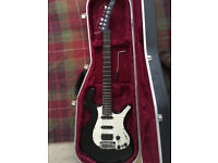Parker p38 electric guitar with Hiscox Lite Flite Standard hardcase