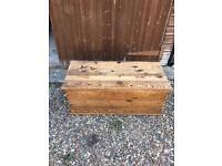 Vintage antique chest box storage blanket toy box