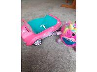 Build a Bear car and Rainbocorns toy