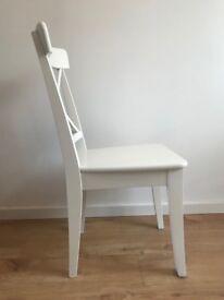 White Ikea Ingolf chair