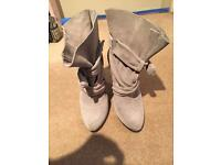 River island heeled boots,Worn once, originally £90, like new