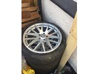 VW T5 alloys with tyres 5x120 20""