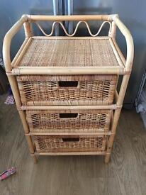Bamboo and wicker unit
