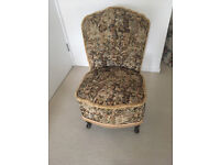 Boudoir Chair £15, ideal to re-upholster for a dressing table or child's room