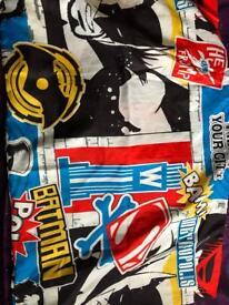 Batman v Superman duvet and curtain set.