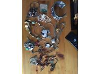 Costume jewellery, necklaces, bangles etc