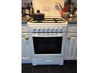 Electrolux ZCM 640W Freestanding Electric Fan Oven and Gas Hob