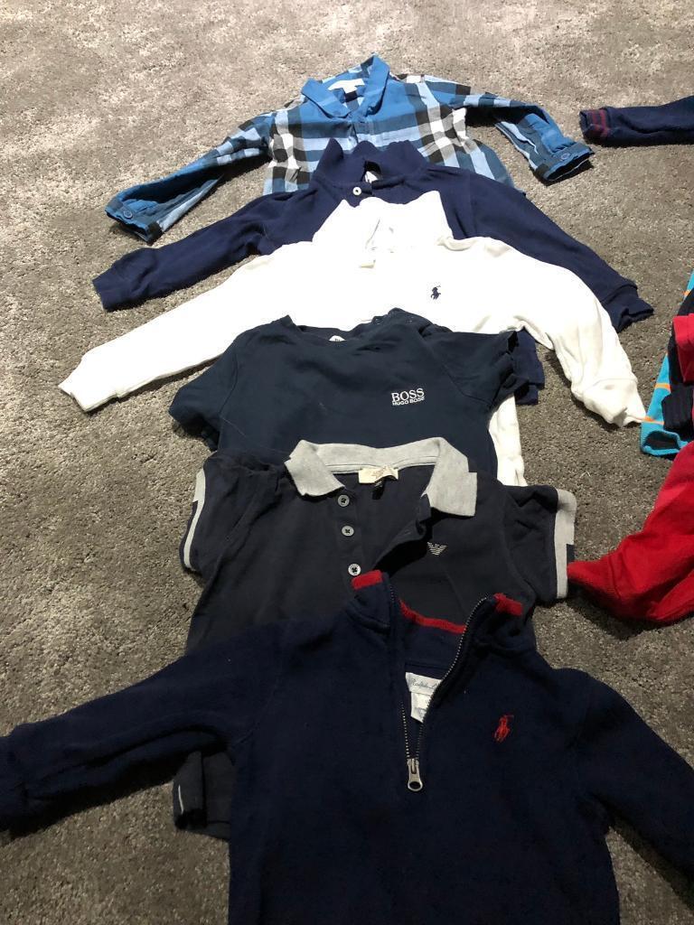 88333dea383b Boys designer bundle 12month Burberry Armani Ralph lauren