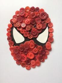Handmade button art.