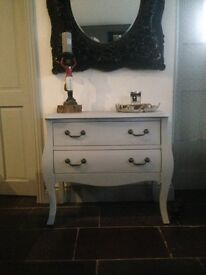 Grey Bombe Chest Of Drawers Shabby Chic French Country Louis Baroque Rococo