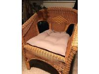 Ikea Bamboo Handwoven Armchair. Perfect condition.