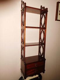 Mahogany cloured wall cabinet