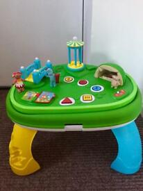 In the night garden play and learn activity table