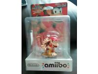 Amiibo Diddy Kong figure. Nintendo Switch Wii U 3ds