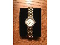 Ladies Rotary Gold Plated Bracelet Watch.