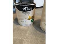 Crown Breatheasy Ivory Cream - Silk Emulsion Paint - 2.5 litre -£10