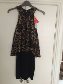 New Lipsy Dress with tags - Leopard print/black - size 12 - Save 50% off retail price