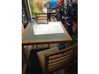 Square dining table &4 chairs